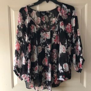 By & by sheer blouse